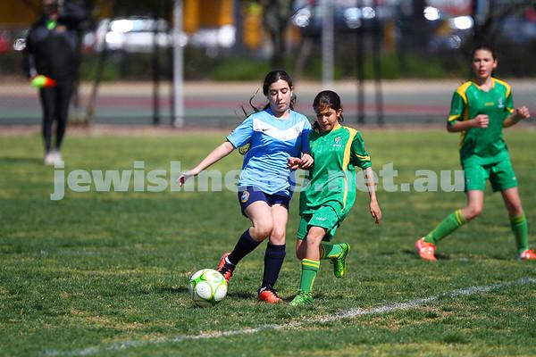 7-9-14. NCJFC  Girls U 13/14 Gold v Ashburton