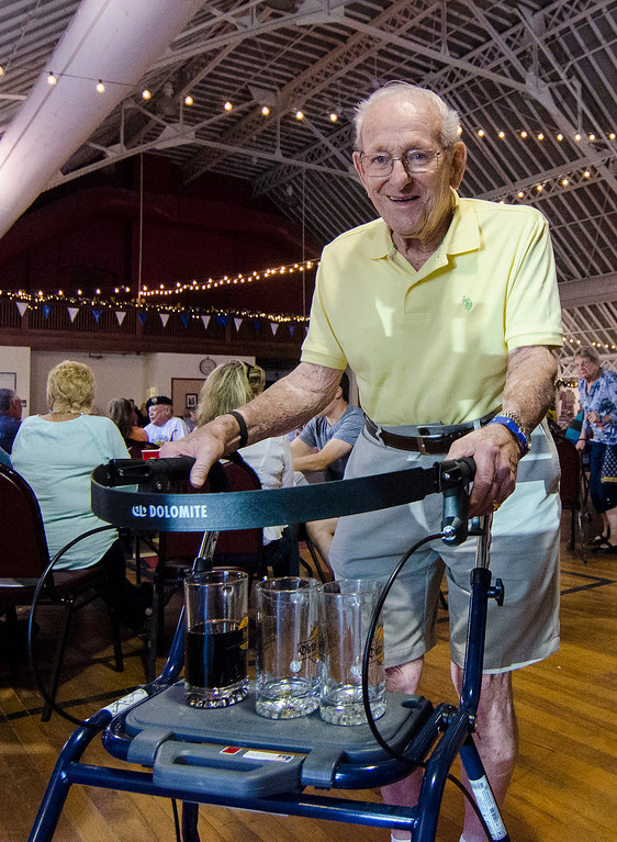 . The $15 entrance fee � $10.60 in advanced at beersforgood.com � goes to charity. All proceeds are donated to the Fitchburg Senior Center, where residents attend programs, play games, listen to records and sometimes challenge each other to a friendly game of table tennis.