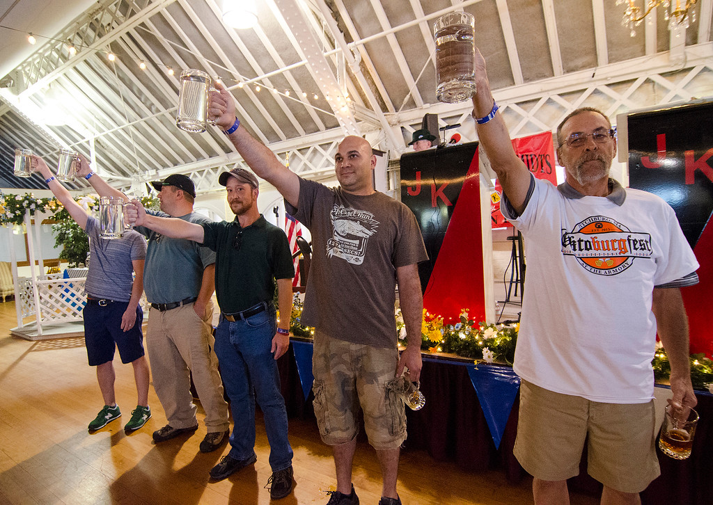 . Ever hold a mug of beer in the air until you just couldn�t take it anymore? Well now you can � for fun. The beer hoisting contest, with prizes for the winners, will take place midway through the five-hour event, according to president of the Friends of Fitchburg Senior Center, Linda Byrne.