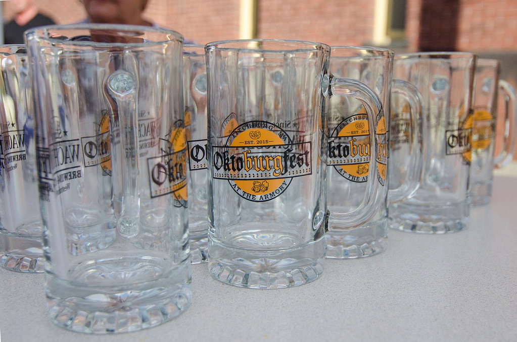 . The early bird gets the mug at this year�s Oktoburgfest. The first 260 will visitors will get a free beer stein at the entrance, according to Byrne.
