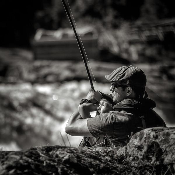 To generasjoner laksefiskere?