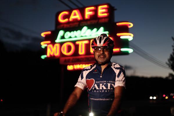 Dr. Ashish Kumar outside the Loveless Cafe in Nashville, TN