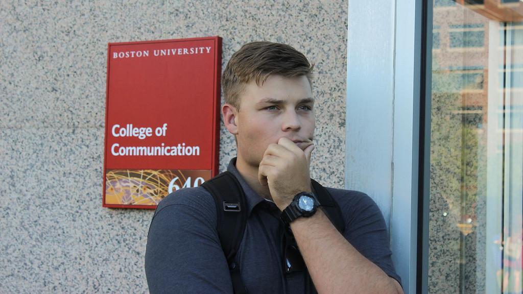 Graduate student Taylor Raglin at Boston Universty College of Communication for Digital Workshop Project, September 13th, 2016