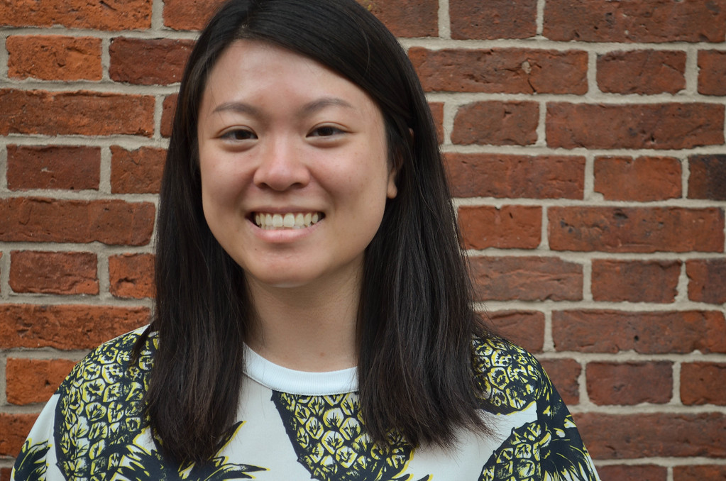 Boston University graduate student, Sarah Toy poses for a photo in Beacon Hill.