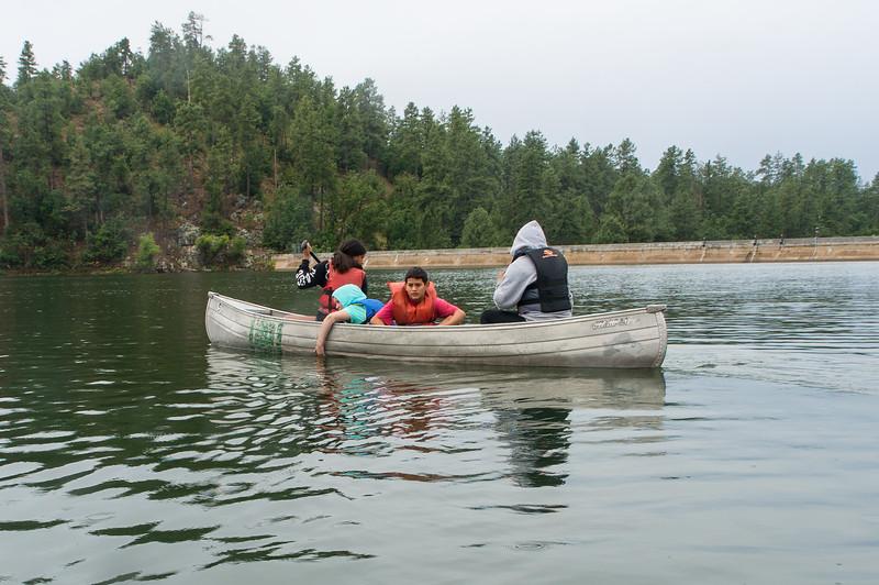 Camp Aloma kids on Goldwater Lake, 7/24/19