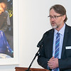 UMass Memorial HealthAlliance-Clinton Hospital announces $750,000 investment in Fitchburg Arts Community on Wednesday, Dec. 18, 2019 at the Fitchburg Art Museum. Making the introduction at the announcement is Executive Director of the Fitchburg Arts Museum Nick Capasso.  SENTINEL & ENTERPRISE/JOHN LOVE