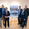 UMass Memorial HealthAlliance-Clinton Hospital announces $750,000 investment in Fitchburg Arts Community on Wednesday, Dec. 18, 2019 at the Fitchburg Art Museum. standing around the drawing of what BF Brown will look like when it is finished is, from left, the Iterim President of UMass Memorial Steven Roach, Fitchburg Mayor Stephen DiNatale, Executive Director of Fitchburg Art Museum Nick Capasso, Executive director of NewVue Communities Marc Dohan, and State Representatives for the 3rd Worcester District Stephan Hay. SENTINEL & ENTERPRISE/JOHN LOVE