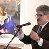 UMass Memorial HealthAlliance-Clinton Hospital announces $750,000 investment in Fitchburg Arts Community on Wednesday, Dec. 18, 2019 at the Fitchburg Art Museum. Addressing the crowd at the announcement is Fitchburg Mayor Stephen DiNatale. SENTINEL & ENTERPRISE/JOHN LOVE