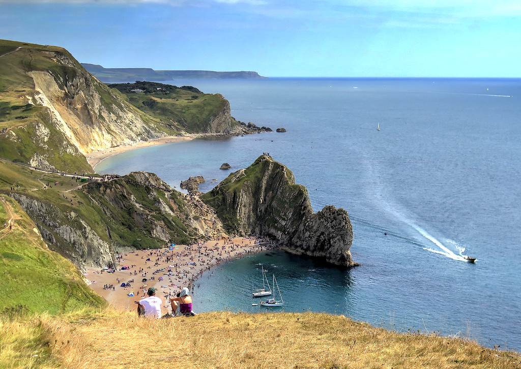 The view from Swyre Head - Durdle Door and beyond is St Oswald's bay