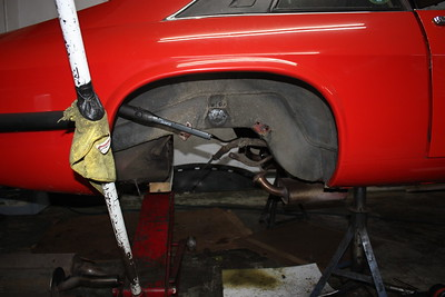 Rear suspension out