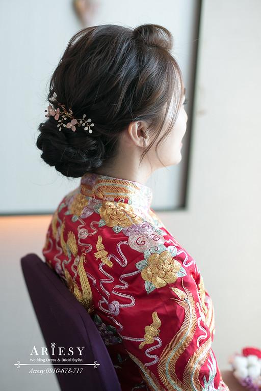 龍鳳褂新娘造型,新秘,新娘秘書,台北新秘ARIESY,台北新秘推薦,文定新娘髮型