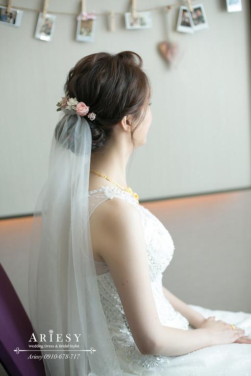 迎娶新娘造型,新秘,新娘秘書,台北新秘ARIESY,台北新秘推薦,新娘髮型