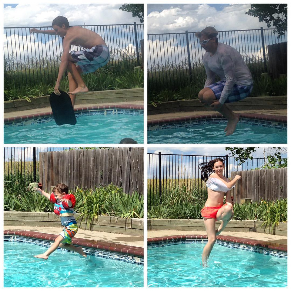Pool fun in the summer