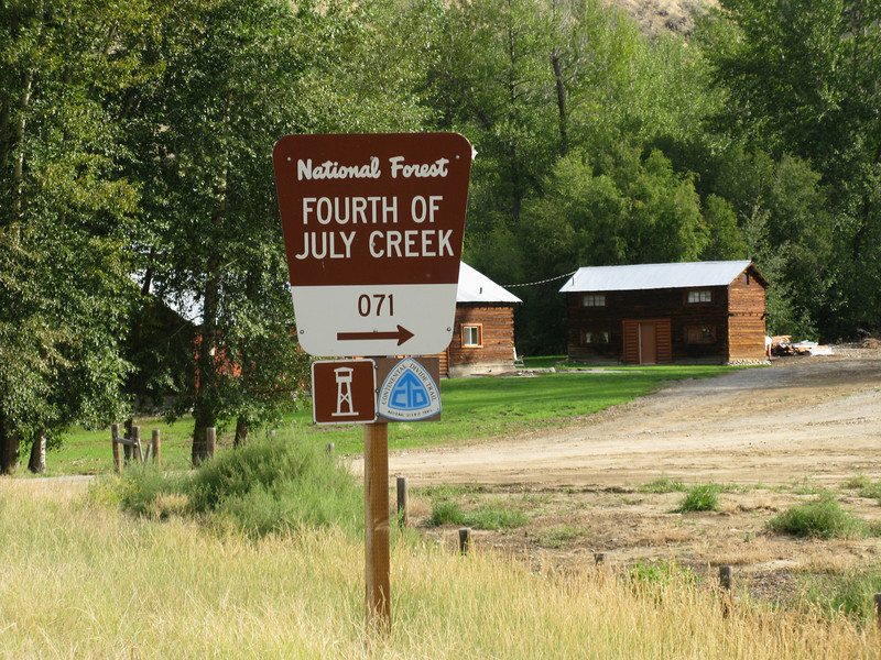 "Heading north from Salmon, Idaho is a creek crossing the main highway called ""Forth of July Creek"". Clark named his creek on July the 4th, 1806, in celebration of Independence Day. There campsite is up the creek five or more miles."