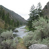The North fork of the Salmon. The Salmon River has numerous branches through this mountainous area.