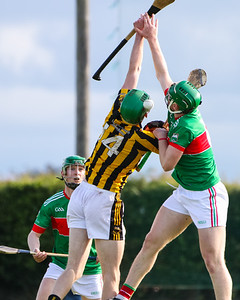 Loughmore Castleiney's Brian McGrath competes with Upperchurch Drombanes Paul Shanahan for the high ball