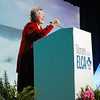 Sister Joan Chittister makes a point in her keynote address.