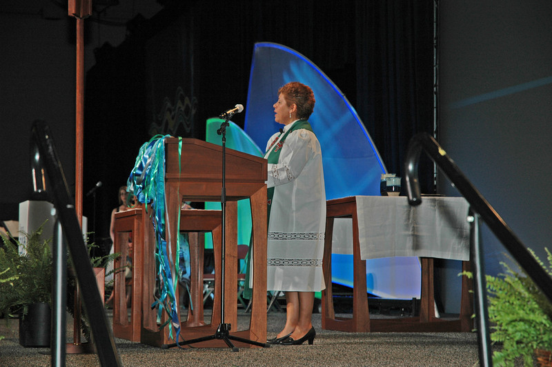 The Rev. Marysol Diaz preaches during the Thankoffering Service.
