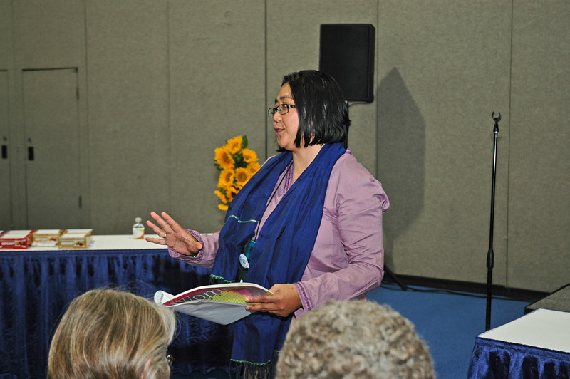 "Teresita Valeriano shares with Women of the ELCA at The Landing on the topic, ""Women and the Lutheran World Federation."""