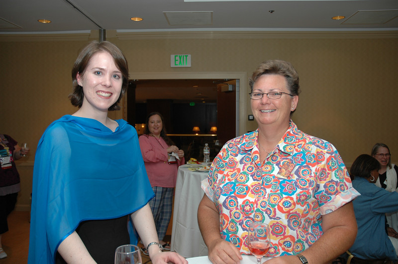 Rose Beeson and Teresa Johnson at the Lutherans Concerned/North America Mix and Mingle.