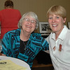 Carol Rerridge and Kristi Grusfendorf chat at the Lutherans Concerned/North America Mix and Mingle.