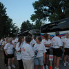 The runners line up at the starting line at the Run, Walk, 'n' Roll 4K in Liberty Park.