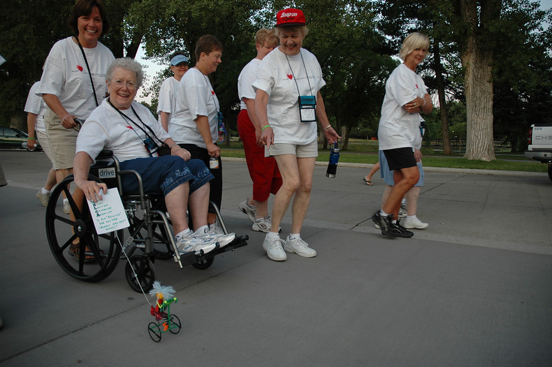 Participants of the 4K Walk, Run, 'n' Roll in Liberty park.