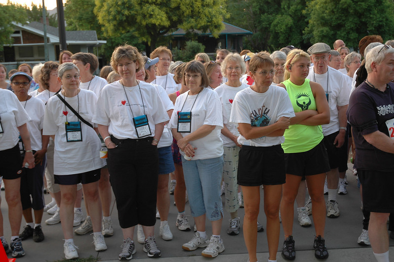 Before the race, participants receive directions.