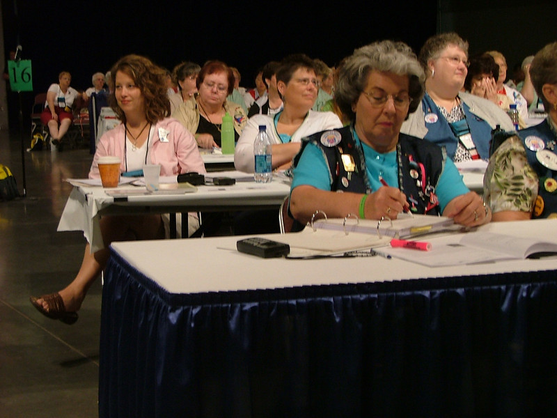 Delegates at the closing session
