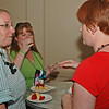 Young women meet, greet, and eat at the Chocolate Lounge.