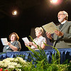 Closing convention worship Linda Post Bushkofsky (left), Beth Wrenn, Presiding Bishop Mark Hanson