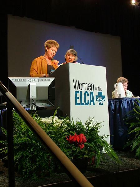 Carmen Richards and Liz Gaskins