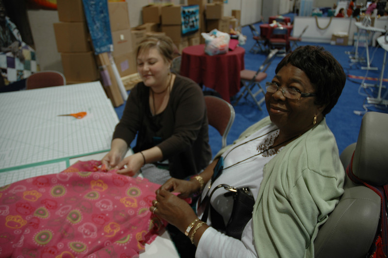 A warm smile from the makers makes an LIRS blanket warmer.