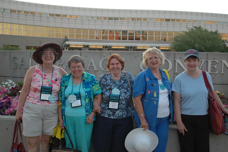 Happy participants outside the Salt Palace Convention Center.