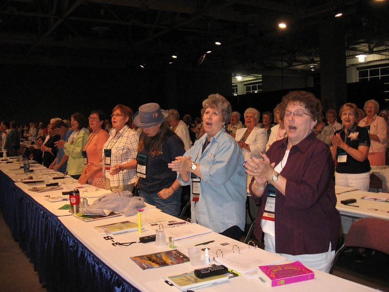 Raising voices in song (TLB)