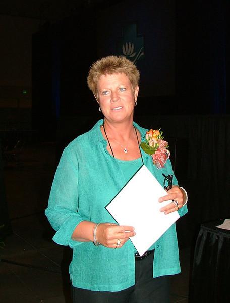 Outgoing president Carmen Richards