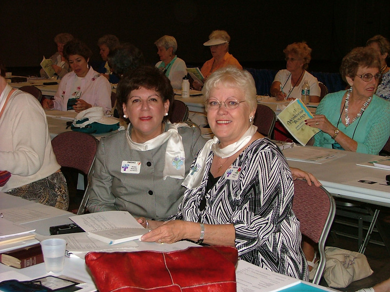 Ina M. Anders, president 2 E Rocky mountain synod (right) and Donna Sarazen, 2E (left)
