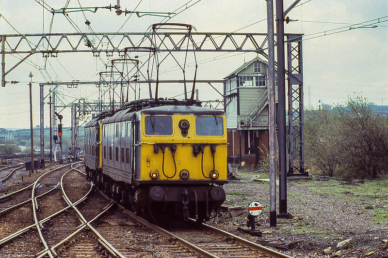 13 th Apr 1981:  76037 & 76038 are  at Penistone as they work from Wath to Guide Bridge