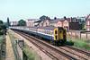 22nd Jun 81:  Class 423 (4VEP) 7846 nearing Egham with a Reading Waterloo service