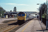 15th Apr 1981:  At 10.49 the 09.20 from Brighton to Manchester Piccadilli in the hands of 47130 hammers through Taplow