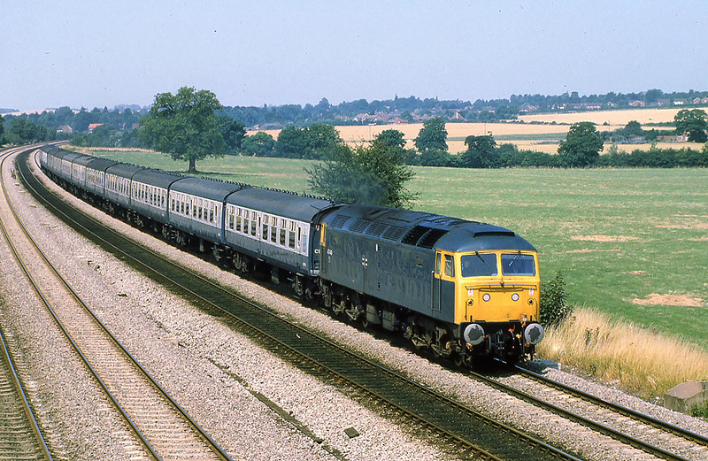 29th Jul 81:  47449 working the 08.12 Leeds Weymouth  service at Lower basildon