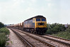 22nd Jun 81:  Captured at Coxes Lock is 47138 with a rake of empty Tarmac hoppers