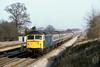 6th Feb 81:  47412 roars west through Ruscombe with the 11.50 Paddington to Birmingham