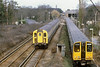 4th Feb 81, 508009 shunts from the shed as 4VEP CL 423, 7844 Passes working the 13.30 Waterloo to Guildford,