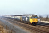 16th Feb 81:  50022 Anson nears Milley Bridge in Waltham St Lawrenece with the 05.53 from Plymouth