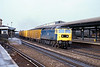 8th Feb 81:  47104 roars through Reading on the fast line with a Refuse Liner