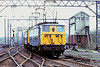 13thApr '81: 76006 & 76024 climb passed Huddersfield Junction signal box at Penistone.