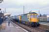 22nd Nov 81:  33107 pauses at Bramley whilst forming the 15.00 from Reading to Portsmouth Harbour.  The little boy was 42 in August 2018<br />    Where has the time gone?