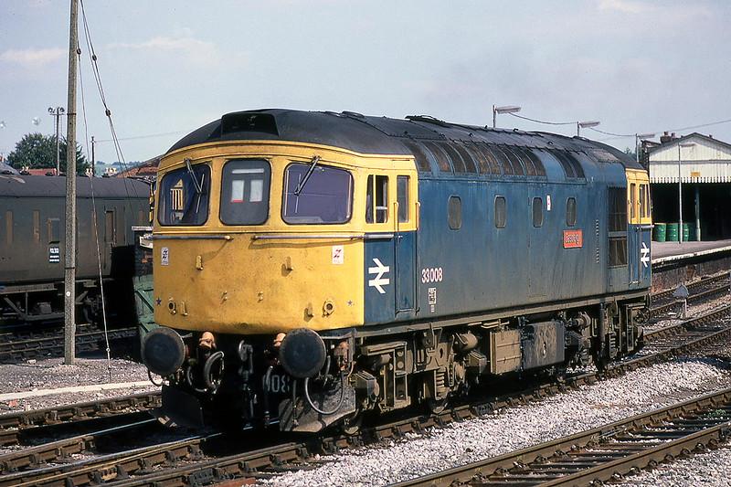 22nd Aug 10981:  33008 'Eastleigh' at Salisbury