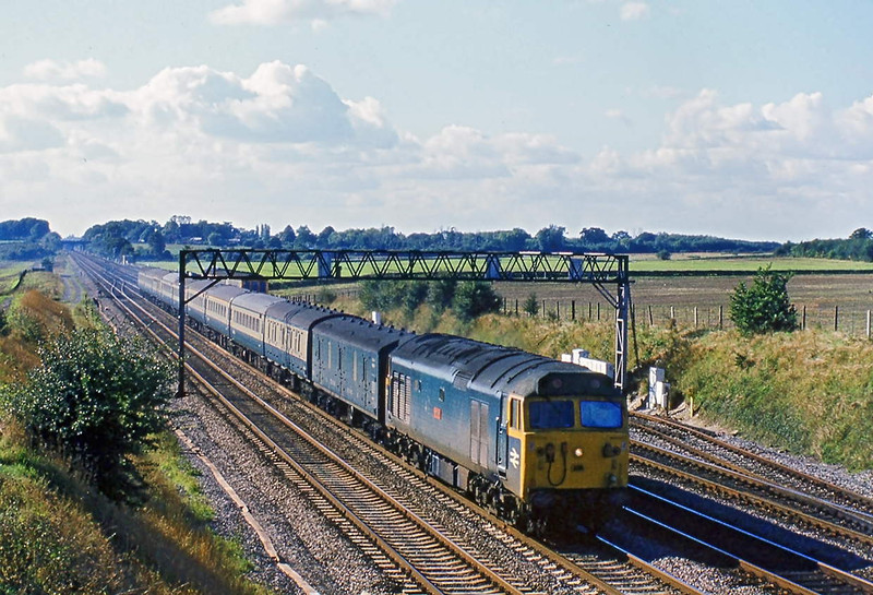 13th Oct 81:  50009 'Ramillies' on the 11.46 from Worcester to Paddington